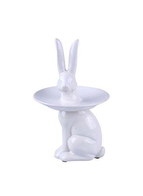 Dekorazon Rabbit Tabak Beyaz
